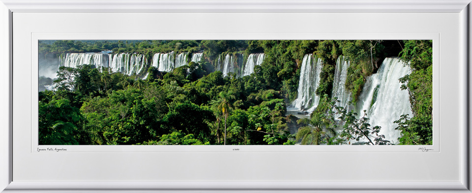 S130121E Iguazu Falls - shown as 10x40 in 17x46 frame