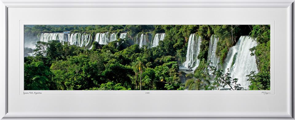 S130121E Iguazu Falls - shown as 10x40 in 17x46 frame