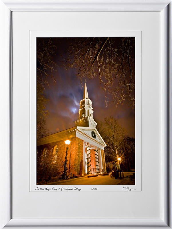 A081212C Martha Mary Chapel - Greenfield Village Michigan - shown as 12x18