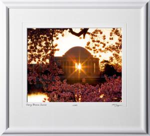 S090403C Cherry Blossom Sunrise - Washington DC - shown as 12x16