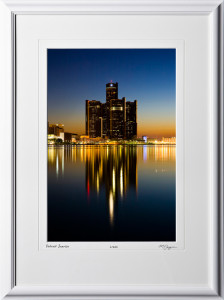 S080901A Detroit Sunrise - Michigan - shown as 12x18