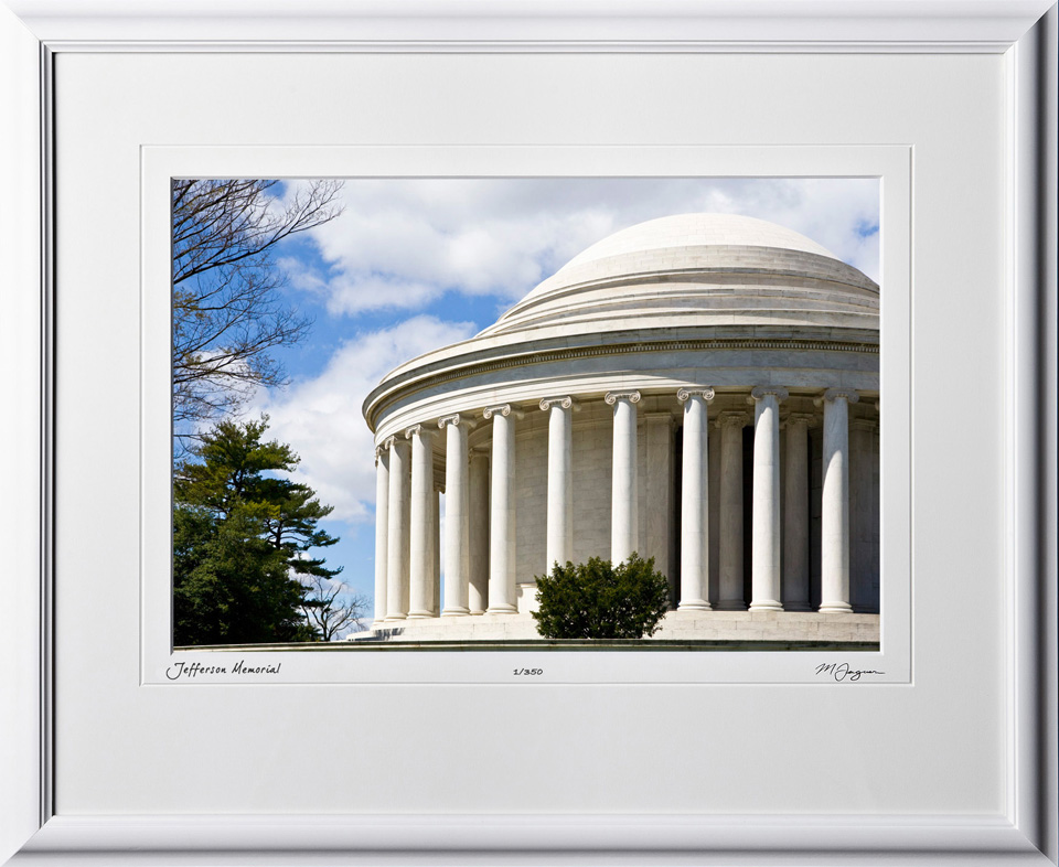 S090402E Jefferson Memorial - Washington DC - shown as 12x18