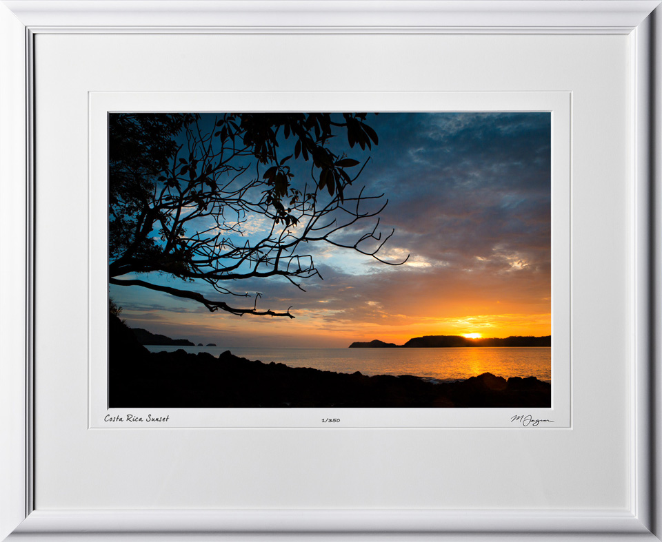 05 S120702 A64 Costa Rica Sunset 12x18 Landscape in 19x24 frame