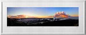 P080406A Kilauea Caldera Panorama - Big Island Hawaii - shown as 12x45