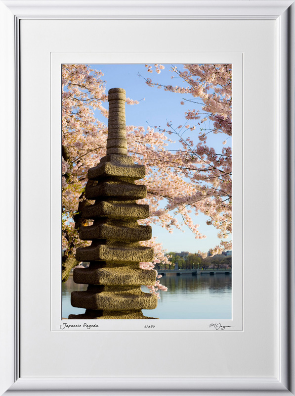 S090403G Japanese Pagoda - Washington DC Cherry Blossom Festival - shown as 12x18
