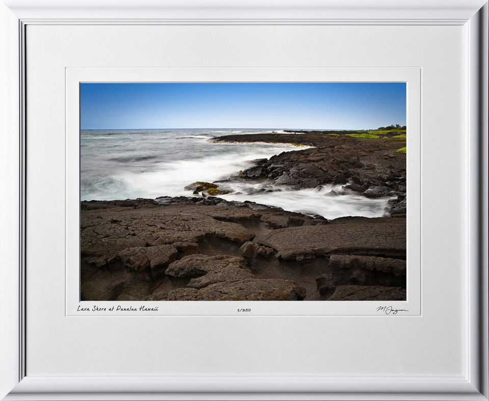 S080405A Lava Shore - Punaluu Hawaii - shown as 12x18