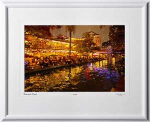 S121206J Riverwalk diners painting - 12x18