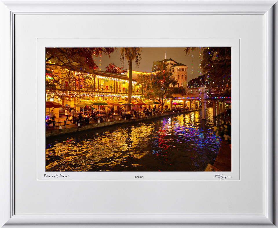 S121206J Riverwalk diners painting - 12x18