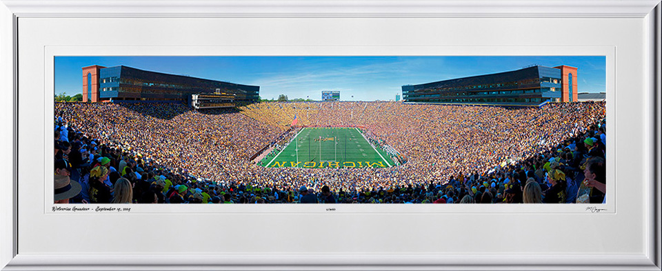 A090919A Michigan Stadium Panorama - Ann Arbor - shown as 12x45