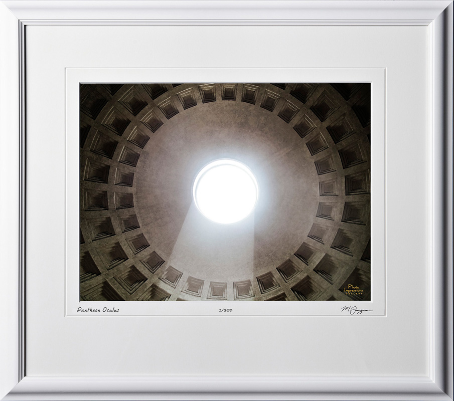 A060419B Pantheon Oculus - Rome Italy - shown as 12x16
