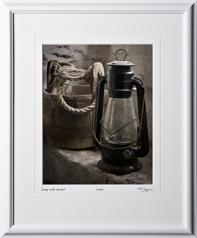 S070428B Lamp with bucket - shown as 11x14