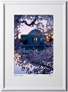 S090403B Jefferson Memorial - Washington DC Cherry Blossom Festival - shown as 12x18
