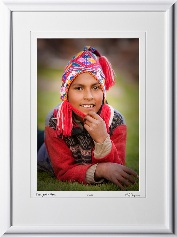 S110515 Inca girl at Alpaca farm - Awanacancha Peru - shown as 12x18