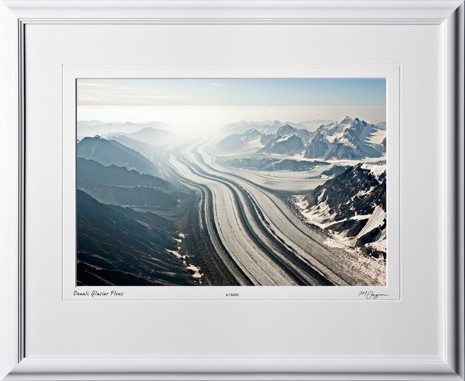 S090713A Denali Ice Flow - Alaska - shown as 12x18