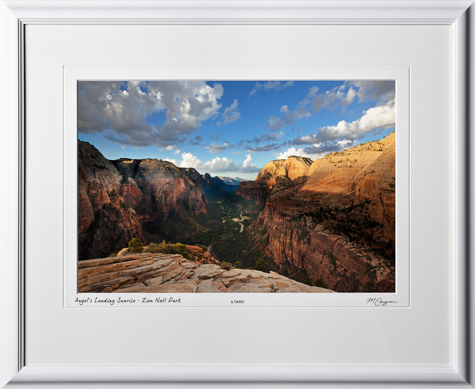 15090108 Angel's Landing Sunrise - Zion Nat'l Park - shown as 12x18