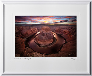 15090223 Horseshoe Bend Sunset - Page AZ - shown as 12x18
