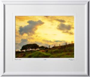 18 S120706 A88 Costa Rica watercolor 10x14 Landscape in 17x20 frame