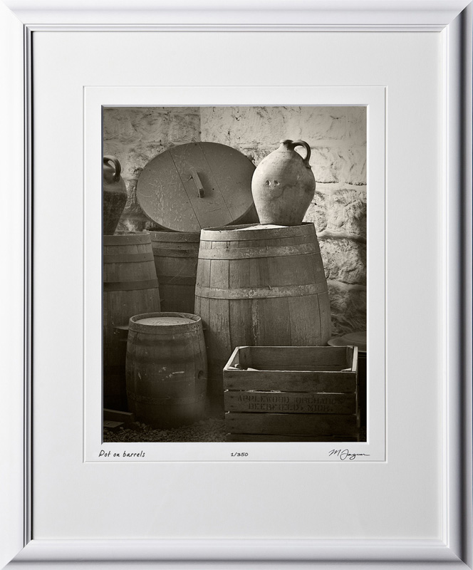 S070428A Pot on barrels - shown as 11x14