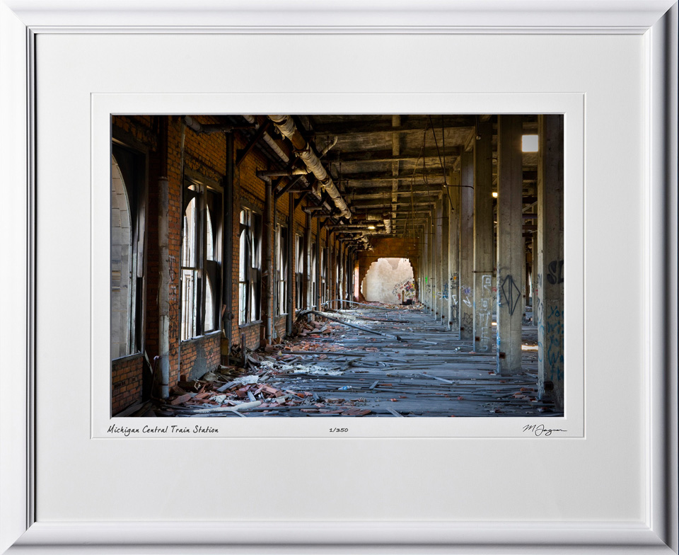 A080901F Michigan Central Train Station - shown as 12x18