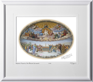 A060421B Raphael's Dispute of the Blessed Sacraments - Room Segnatura - Vatican City Rome Italy - shown as 12x16