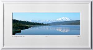 S090717A Mt Mckinley from Wonder Lake - Denali Alaska - shown as 8x24