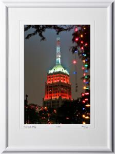 S071207C San Antonio Riverwalk Tower Life Bldg - shown as 12x18