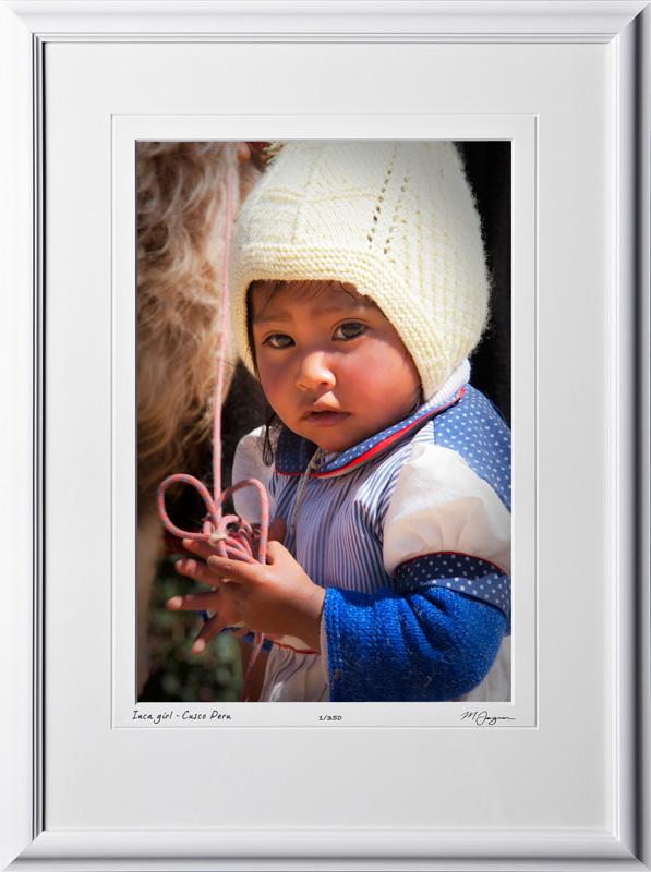 S110519 041 Inca girl - Cusco Peru - shown as 12x18