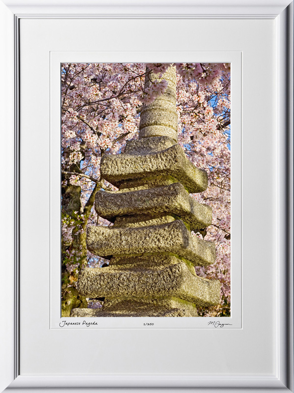 S090403H Japanese Pagoda - Washington DC Cherry Blossom Festival - shown as 12x18