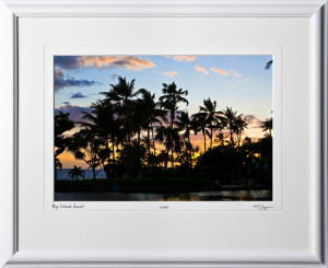S080403A Big Island Sunset - shown as 12x18