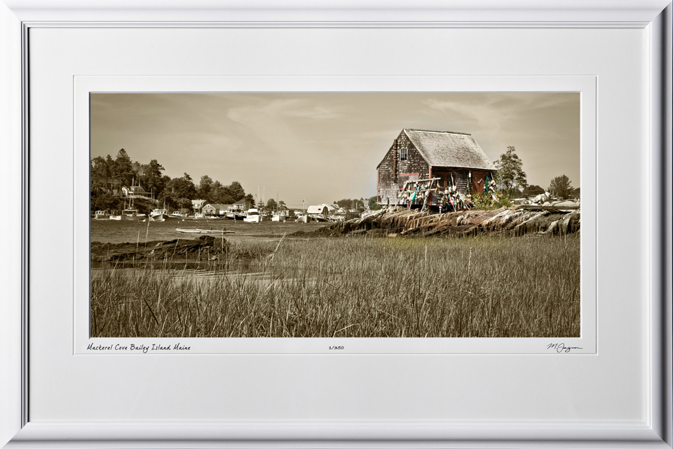 SA080823L Mackerel Cove - Bailey Island Maine - shown as 12x24