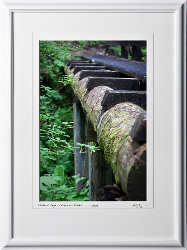 S090721D Rustic Bridge - Ideal Cove Alaska - shown as 12x18