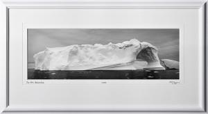 39 S130112K Antarctica Ice Art - shown as 8x24