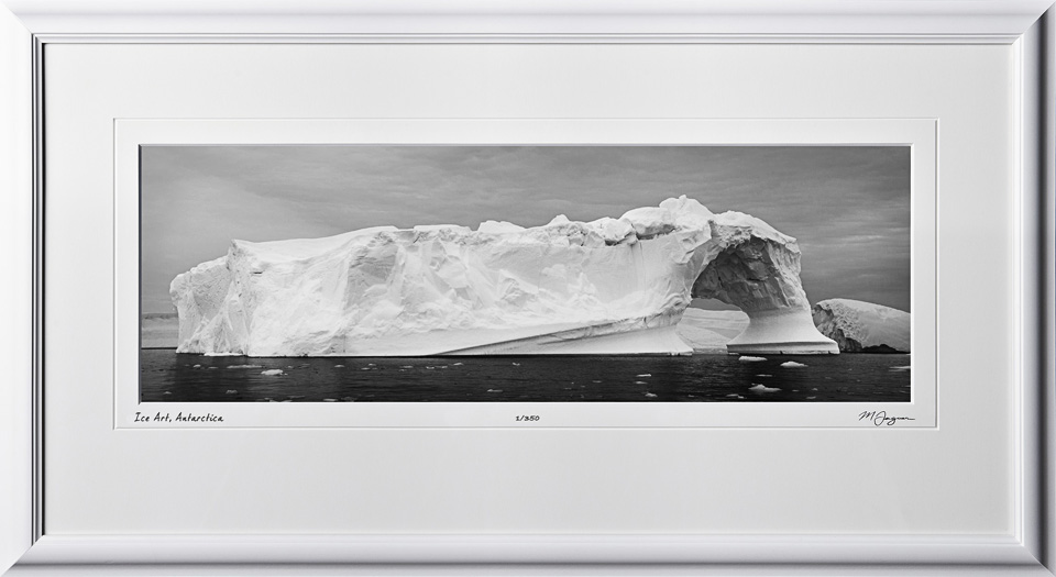 39 S130112K Antarctica Ice Art - shown as 8x24
