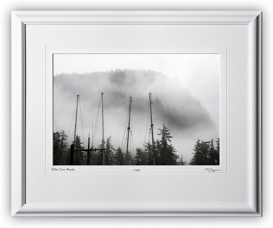 S090723A Elfin Cove mist - Alaska - shown as 12x18