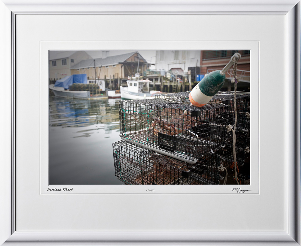S080824L Portland Wharf - Maine - shown as 12x18