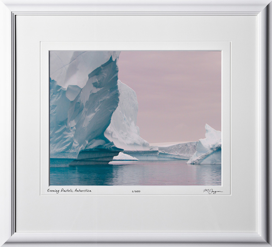 S130112J Evening Pastels - Antarctica - shown as 11x14