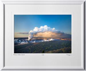 S080406A Kilauea Caldera Sunrise - shown as 12x18