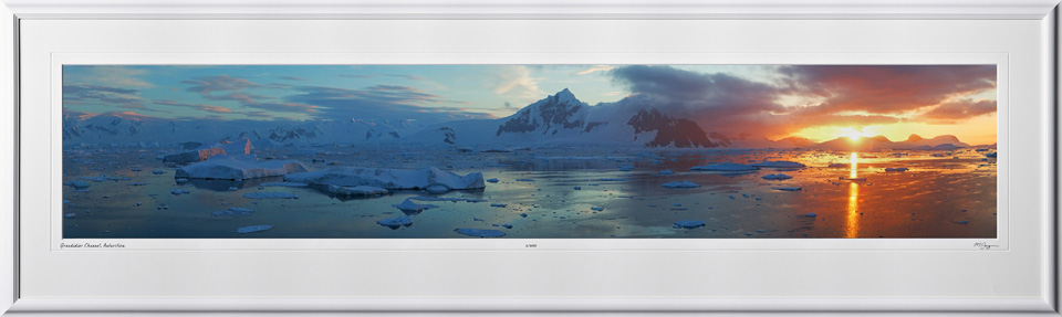 47 S130112R Grandidier Channel - Antarctica - shown as 8x40 in 14x47 frame