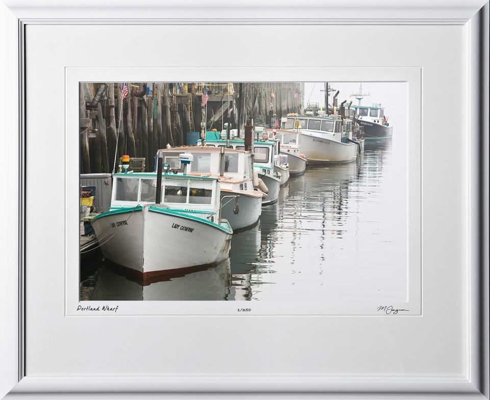 S080824P Portland Wharf - Maine - shown as 12x18