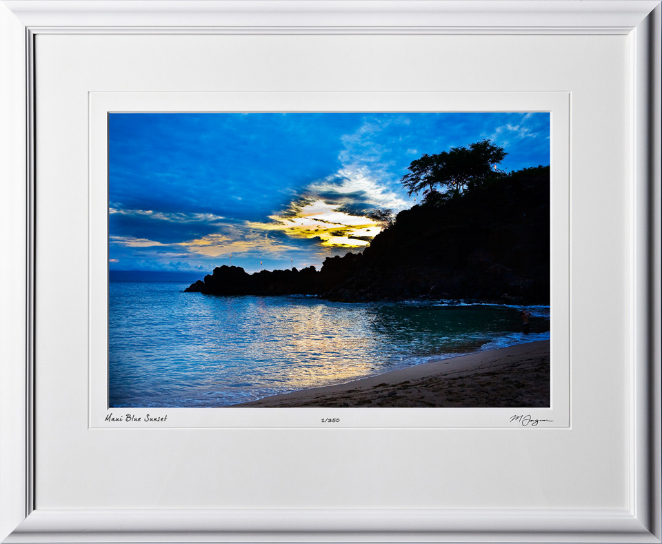 S080410B Maui Blue Sunset - Hawaii - shown as 12x18