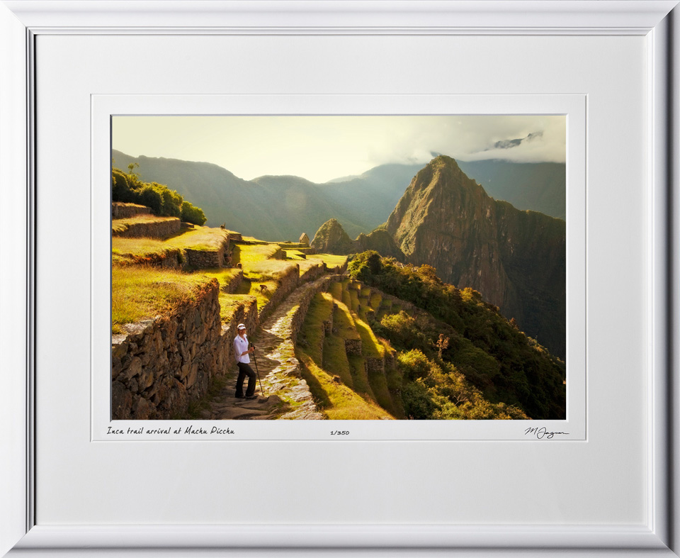 S110517 034 Inca trail arrival at Machu Picchu - shown as 12x18