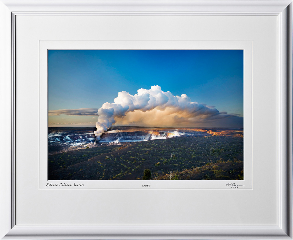 S080406A Kilauea Caldera Sunrise - Big Island Hawaii - shown as 12x18