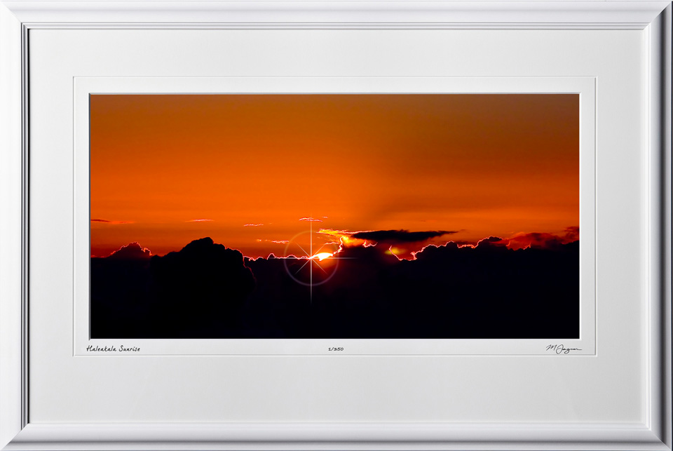 S080407A Haleakala Sunrise - Maui Hawaii - shown as 12x24