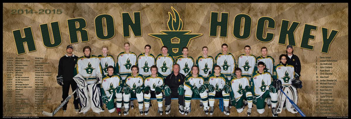 Ann Arbor Huron Hockey Banner Poster 2014 sport photography