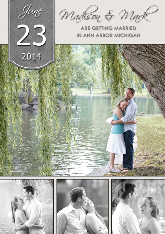 Save the date card - Suggestion #1 magnet wedding engagement
