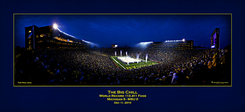University of Michigan Big Chill Hockey Poster Ann Arbor