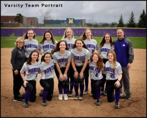 Pioneer HS Softball team portrait sport photography