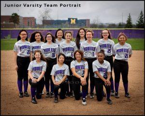 Pioneer HS JV Softball team portrait sport photography
