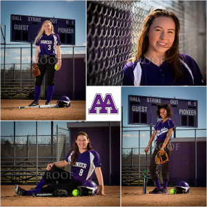 Ann Arbor Pioneer HS Softball Portraits sport photography