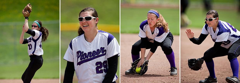 Pioneer Softball VS Fraser and Howell, 5/16-17/14, Ann Arbor